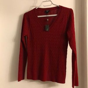 NWT Talbots petites Pima cotton cable knit sweater